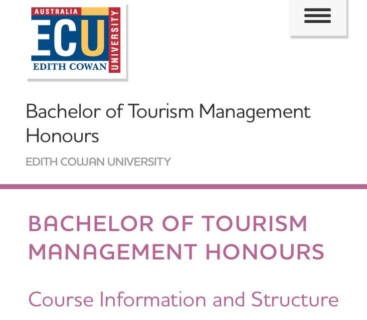 Tourism Management Honors