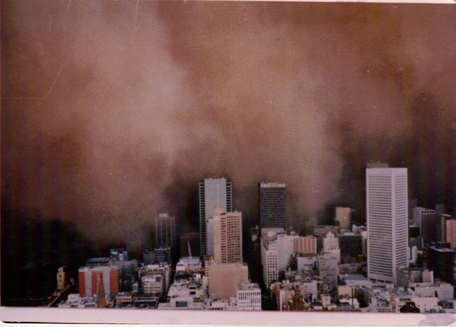 Melbourne Dust Storm, 8 February 1983, by Marquisde, via Flickr
