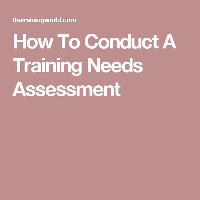 How To Conduct A Training Needs Assessment Design inspiration - needs assessment