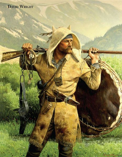 Red Mountain Trapper David Wright (1942) As we see here, real mountain men did NOT wear dead animals on there heads! Description from pinterest.com. I searched for this on bing.com/images