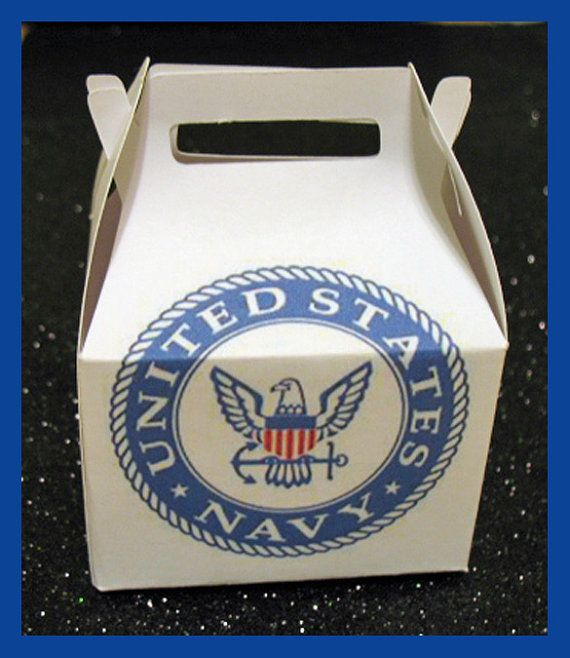 Navy party favor boxes Navy Gift Boxes Navy seal by tinygiftboxes, $1.35