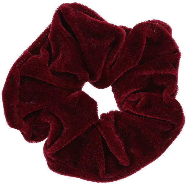 Miss Selfridge Dark Red Velvet Scrunchie ($5.32) ❤ liked on Polyvore featuring accessories, hair accessories, fillers, hair, red, miss selfridge, scrunchie hair accessories and red hair accessories