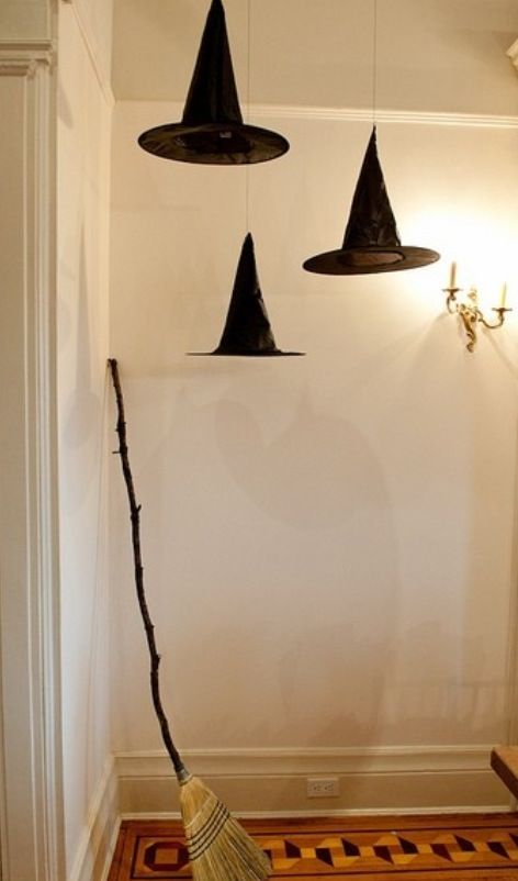 halloween hanging witch decoration