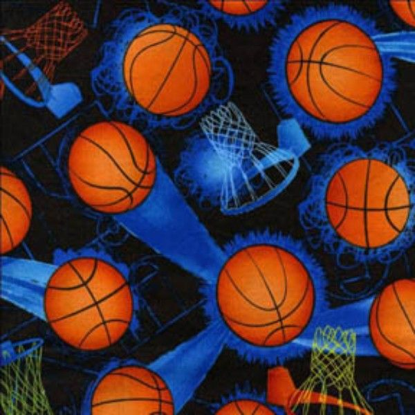 Basketball Fabric Tt Sport Hoops And Basketballs 3285