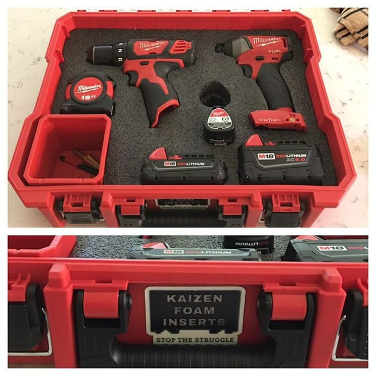 Thanks @kaizen_inserts for keeping my most used organized! So pretty! #milwaukee #nbhd #milwaukeetools #kaizenfoam #m18fuel #toolnerd #lovemytools