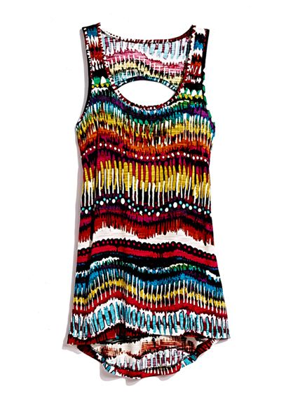 A bright designer tank is perfect for backyard parties