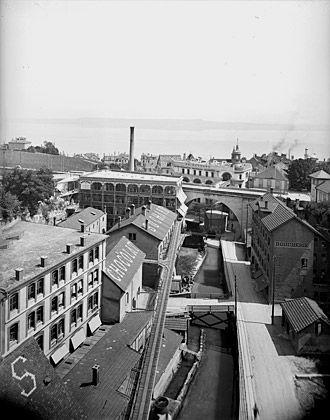 Entre friche industrielle et quartier vivant C'est dans le vallon encaissé de Serrières que vécurent les usines Suchard, de 1826 à 1996.