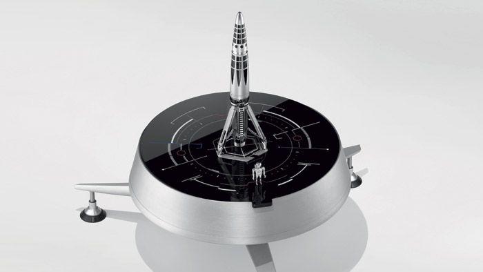 Astrograph je luxusní pero ve tvaru rakety s hravým boxem