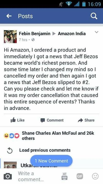 Funny post on Amazon India page 😂😂 #StupidPrices