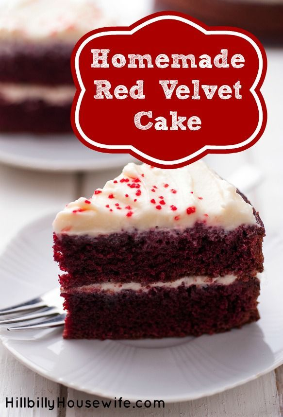 Homemade Red Velvet Cake Recipe - We love this cake. So simple and tasty. There's a recipe for the perfect frosting too.
