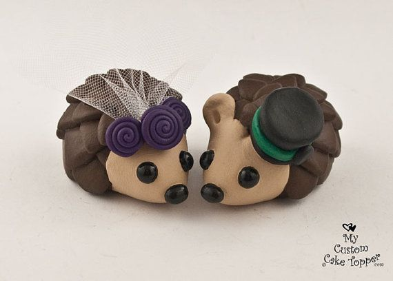 Hey, I found this really awesome Etsy listing at https://www.etsy.com/listing/214254712/hedgehogs-wedding-cake-topper-with