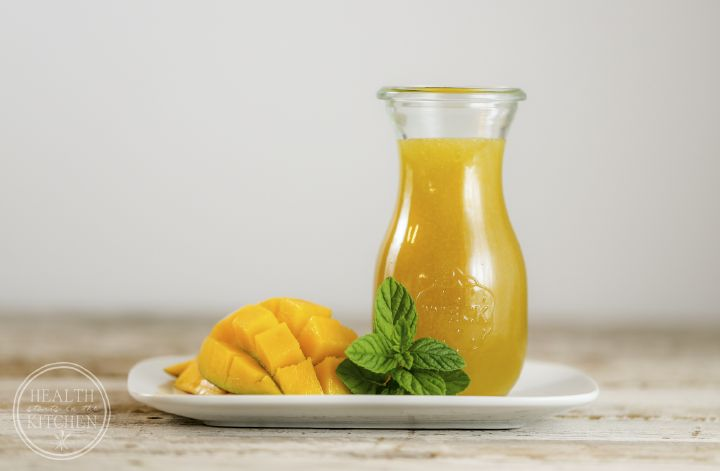 Homemade Mango Syrup - Perfect for flavoring iced tea and cocktails!