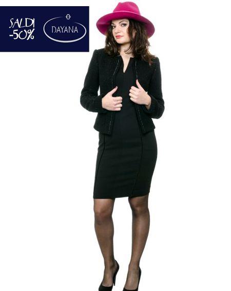 """GIACCA DAYANA SENZA COLLO COLLEZIONE AI 2013/14 """"SALDI -50%""""  #fashion #moda #sale #saldi #shopping #fw #woman #madeitaly #curvy #casual  http://www.dayanaboutique.com/shop/it/giacca/94-GIACCA-DAYANA-SENZA-COLLO.html"""