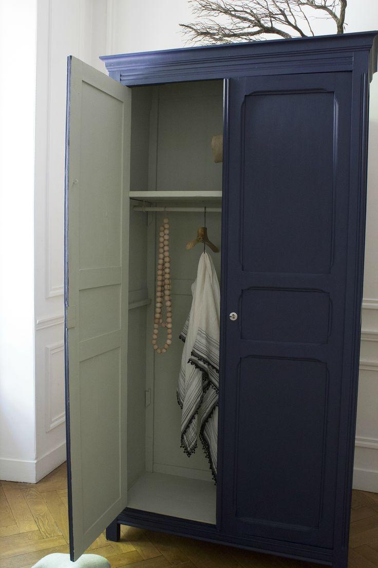 Armoire parisienne bleue chambre enfant trendy little 3 for Armoire chambre parents