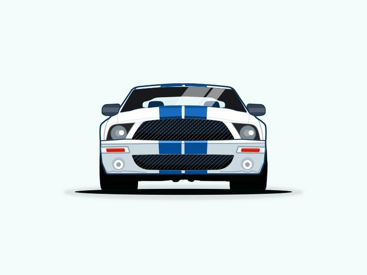 Ford Mustang vector illustration by pramod kabadi