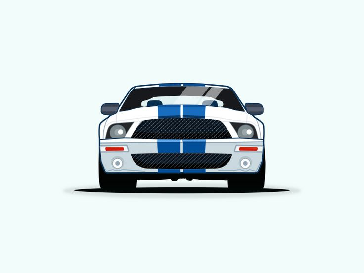 Ford Mustang vector illustration by pramod kabadi