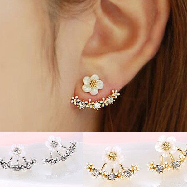 K-Fashion Flower Earrings