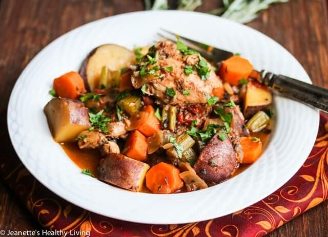 Slow Cooker Chicken Vegetable Stew with Rosemary, Thyme and Sage Recipe - Jeanette's Healthy Living