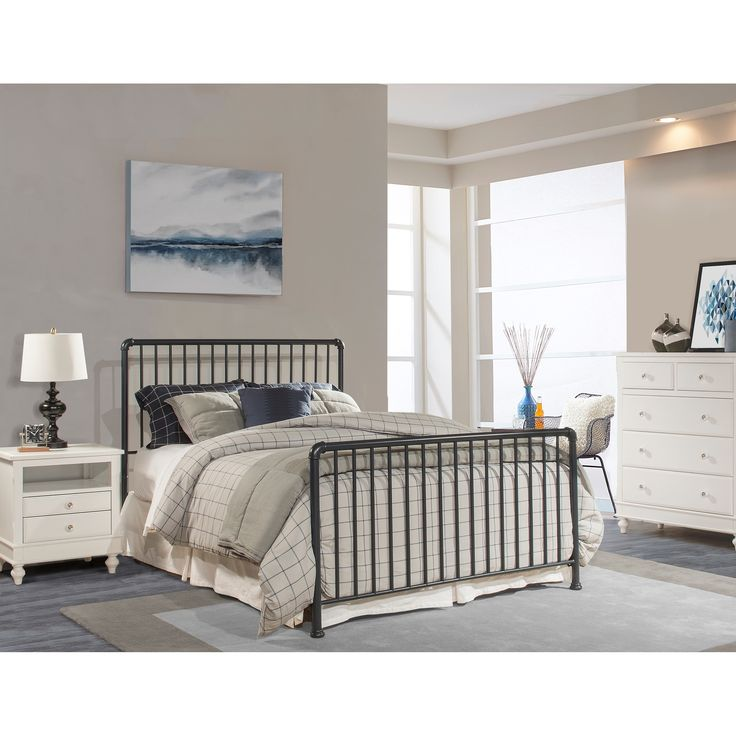 Hillsdale Brandi Full Bed Set Bed Frame Included, Blue