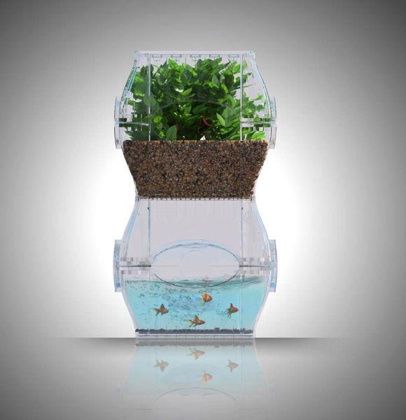 収穫量に満足できない人へ。未来型デザインの中型栽培キット「Aqualibrium」