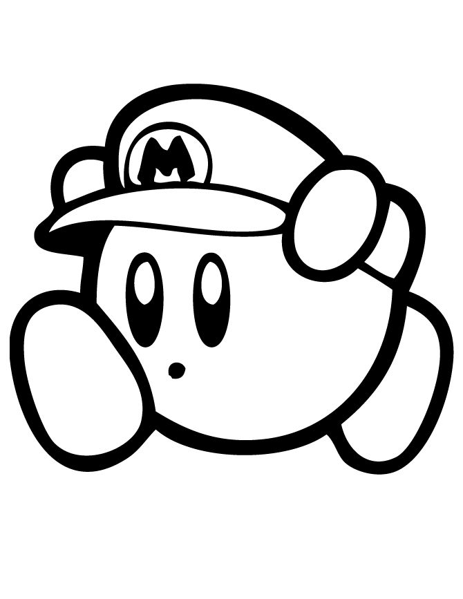 kirby coloring pages kirby mario coloring page free printable coloring pages