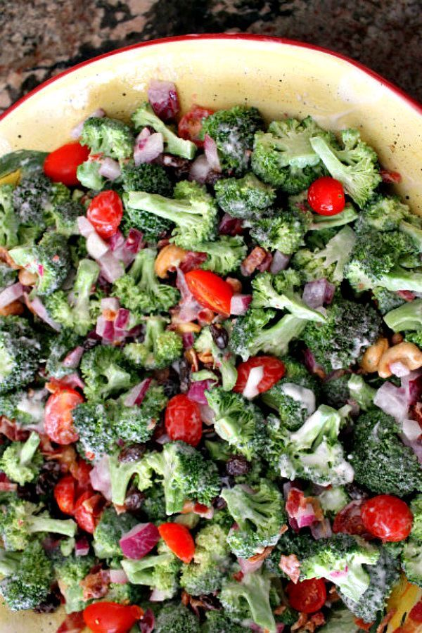 The Best Broccoli Salad Recipe - great recipe for summer BBQ's and 4th of July : from RecipeGirl.com