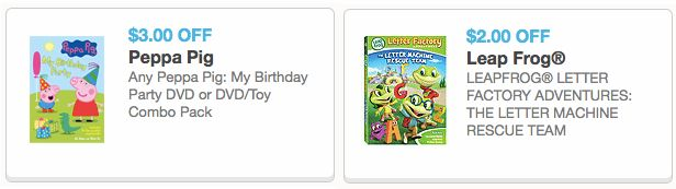 New $3/1 Peppa Pig DVD Coupon & $2/1 LeapFrog Letter Factory Adventures Game Coupon – Hip2Save