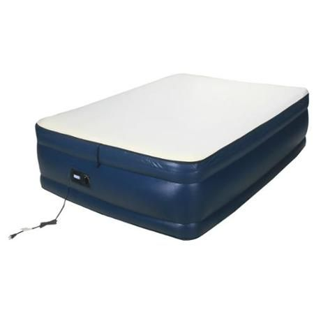Airtek Raised Memory Foam Full Size Air Bed With Built In