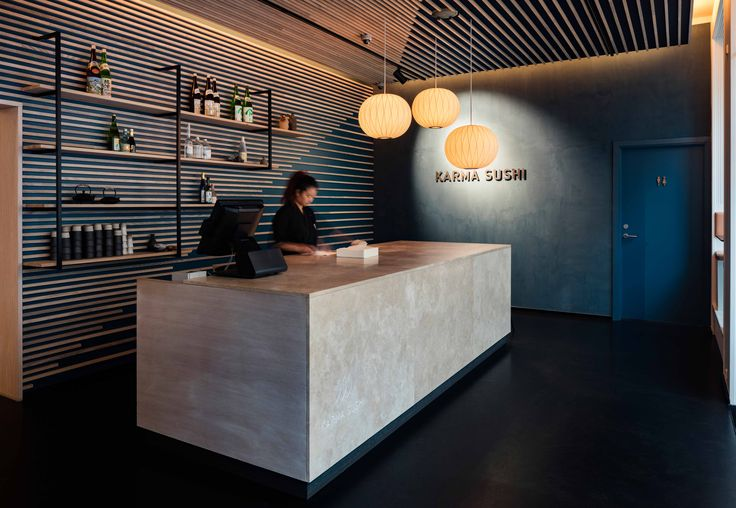 Interior design for Karma Sushi Restaurant, Aarhus, Denmark. The experience of the room and the food mirrors each other. It has been the ambition of the design to create a holistic experience of the beauty of simplicity, that complements what can be found on the plate.