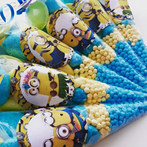 Beautiful handmade Minions Sweet cones by ThePrettyLittleSweet