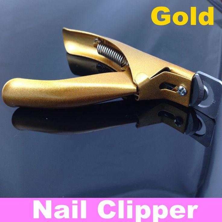 Край резак Акриловые/Ложь CLIPPER Уход За Ногтями Инструмент, золотой Цвет + Бесплатная Доставка