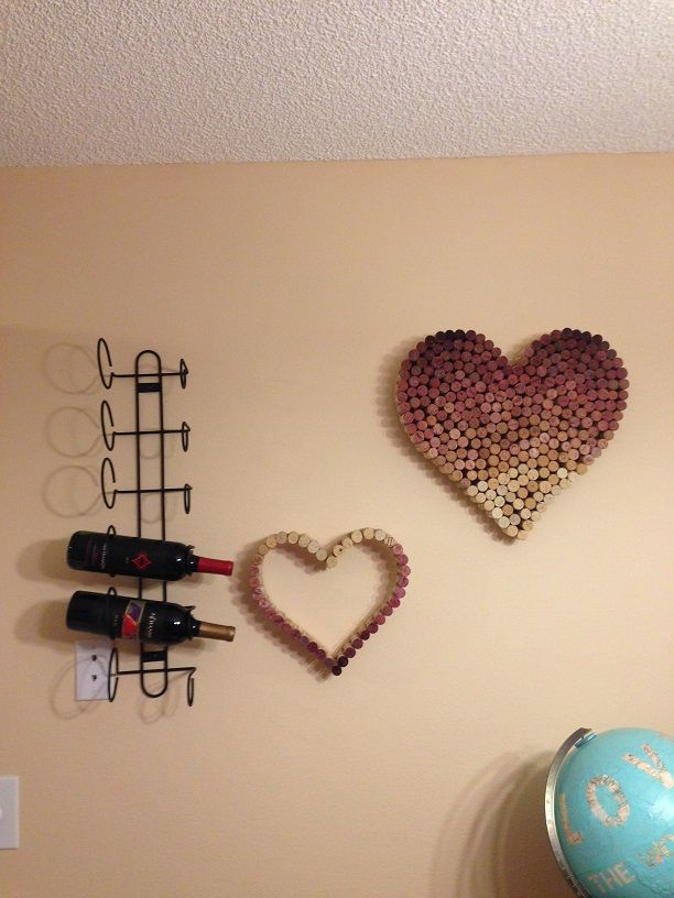 Post-Grad Crafting: Ombre Wine Cork Heart!