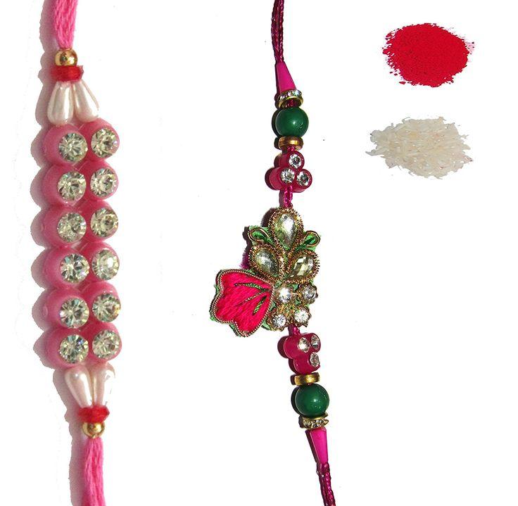 #NKY #Rakhi #Unique Design #Rakhi #Set Of 2 Rakhi For #Brother With #Roli Chawal #Rakshabandhan Special