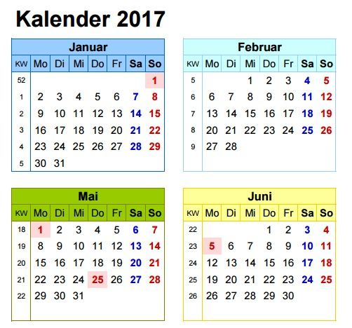 excel kalender 2017 deutsch ein pack mit insgesamt 16. Black Bedroom Furniture Sets. Home Design Ideas