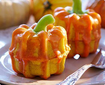 Rezept: Mini-Kürbis-Orangen-Kuchen