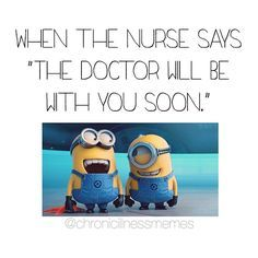 """Haha it's never """"soon""""! I've waited hours for some doctors! Can you relate?Feel free to share, repost or tag your friends to give them a laugh!❤ #spooniestrong #chronicillnessmemes #memes #chronicillness #chronicpain #autoimmune #disease #spoonie #doctors #support #awareness #invisibleillness #advocate #endo #crohns #ibd #scoliosis #rheum #arthritis #sickness #health #humor #flares #doctor #appointment"""