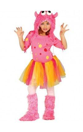 disfraz de monstruita rosa para nia
