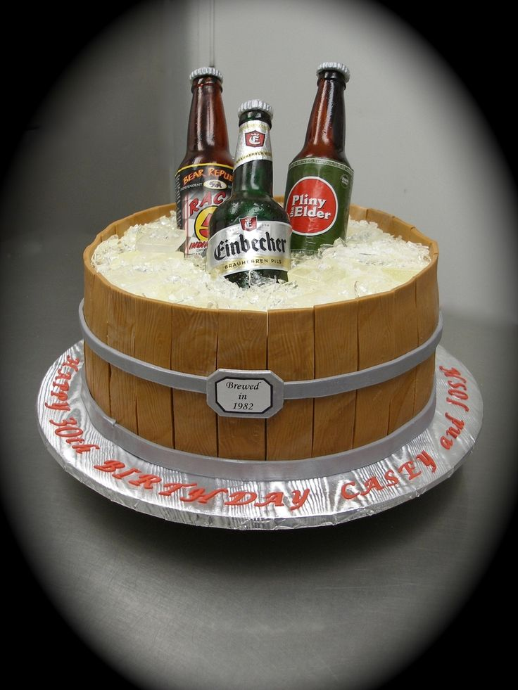 Sugar Beer Bottle Cake