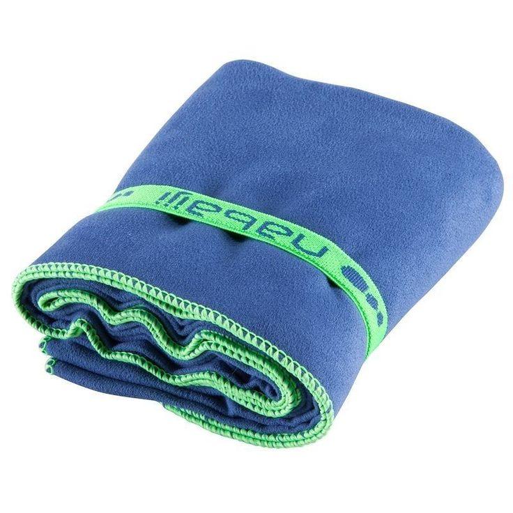 NABAIJI Microfibre Towel High Absorbent Swimming Travel Sport 80x130cm BLUE  #Nabaiji