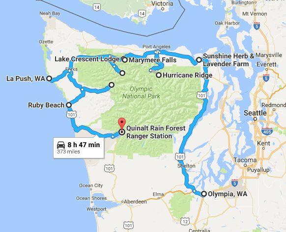 Map Rain Parks Washington National Forest