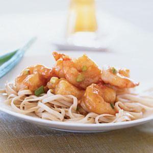 Stir-Fried Shrimp with Spicy Orange Sauce   MyRecipes.com