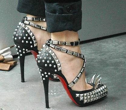OBSESSED.  Christian Louboutin for Rodarte.  If I had $1200 to spend on shoes, this would be them.  Oy vey..