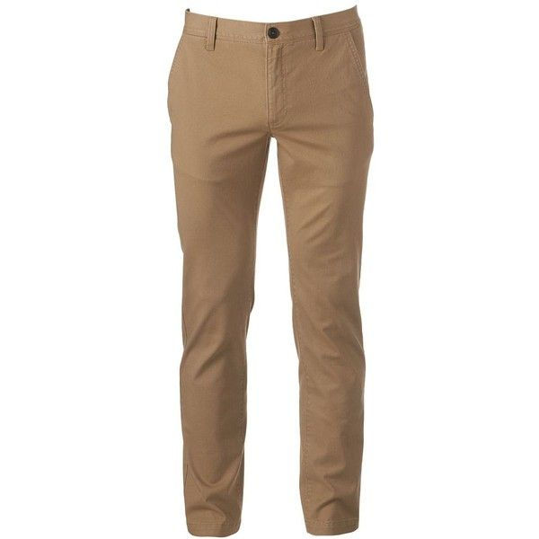 Men's Urban Pipeline Slim Straight Chino ($44) ❤ liked on Polyvore featuring men's fashion, men's clothing, men's pants, men's casual pants, jeans, men, med beige, mens chino pants, mens zipper pants and mens zip off pants