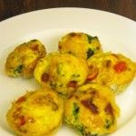 This isn't a muffin it is more of an omelette baked in a muffin cup and it is delicious. But better then that it is easy and quick. These are perfect for overnight guests or to make at the beginning of the week and have a quick, healthy breakfast ready to eat. The ingredients are simple and you can use whatever vegetables you have on hand, I used roma tomatoes and spinach but you could use mushrooms or asparagus, or bell peppers.Ingredients:12 eggs, beaten 1 cup shredded cheddar cheese 3/4…