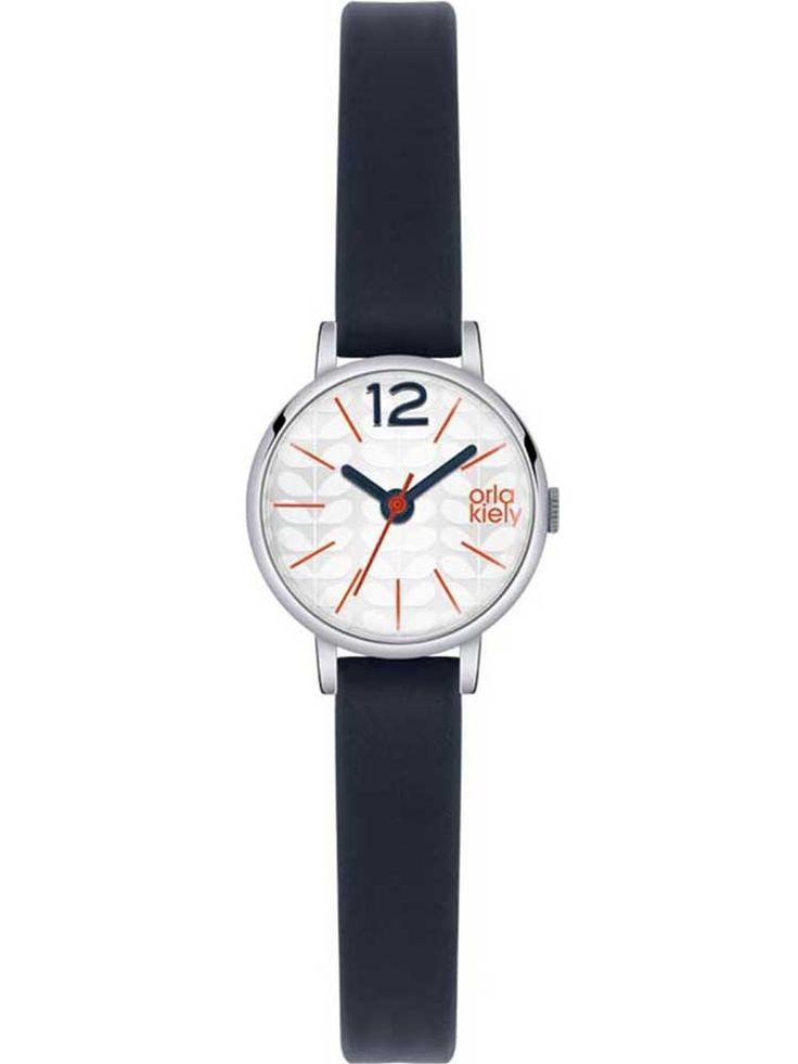 Orla Kiely Frankie Blue Leather Strap Watch OK2009
