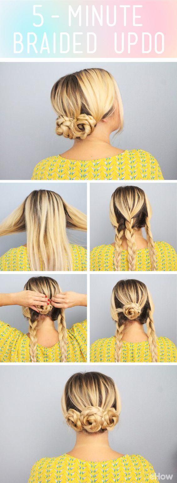 Lluvia de ideas ideas en 5 minutos peinados Colección De Cortes De Pelo Tutoriales - 10 formas de peinar tu cabello en 5 minutos - Mujer de 10 ...
