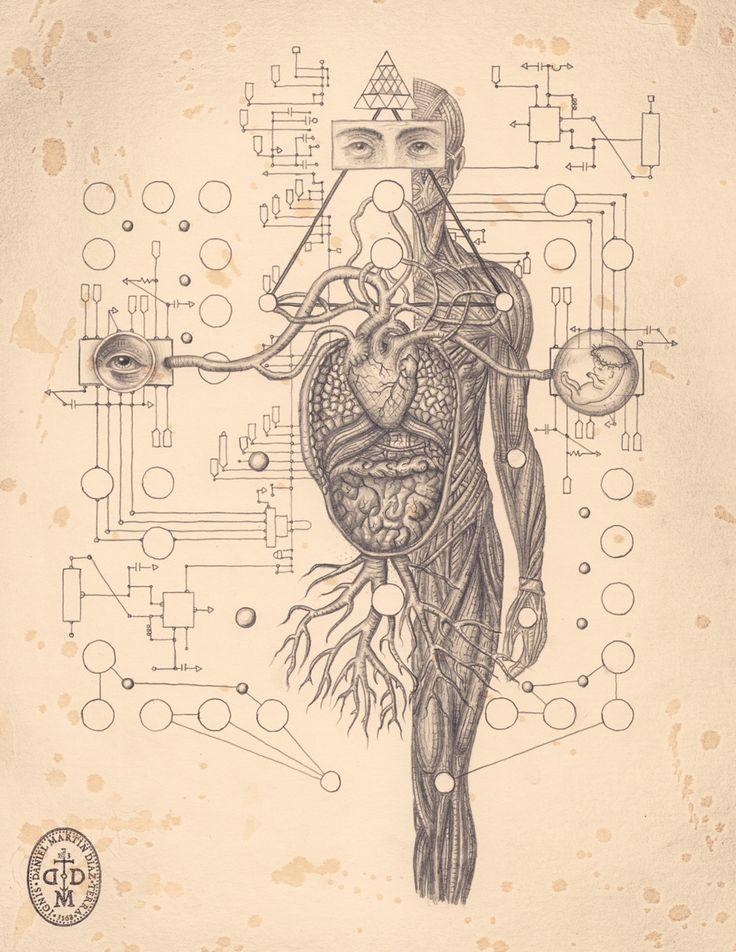 The Art of Daniel Martin Diaz / Self aware System / Sacred Geometry / The fractal nature of humanity