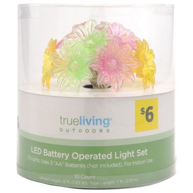Led Battery Operated Light Set Dollar General Deco In