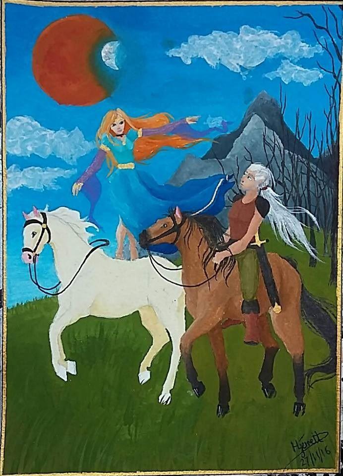 30 'Shari-Rose and Daeron's Daily Ride' by Hecate Jerrett, adult #fantasy #art