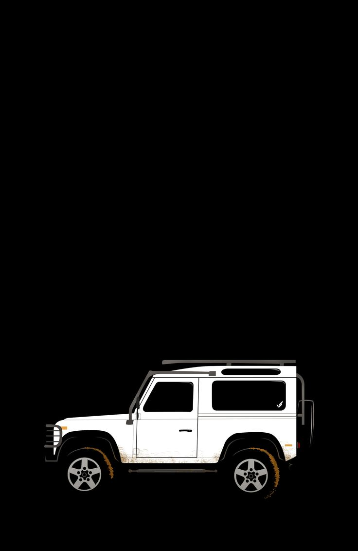 Land Rover Defender 90 illustrated and available on a variety of products in the VS shop.